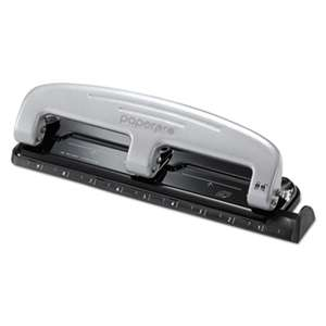ACCENTRA, INC. 12-Sheet inPRESS 12 Three-Hole Punch, Black/Silver