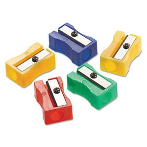 ACME UNITED CORPORATION Manual Pencil Sharpeners, Red/Blue/Green/Yellow, 4w x 2d x 1h, 24/Pack