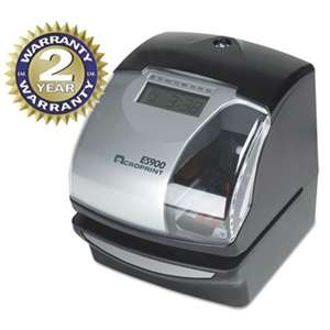 ACRO PRINT TIME RECORDER ES900 Digital Automatic 3-in-1 Machine, Silver and Black