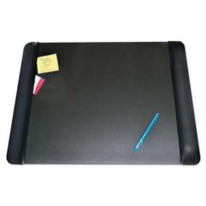 ARTISTIC LLC Executive Desk Pad with Leather-Like Side Panels, 24 x 19, Black