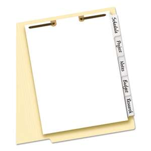 AVERY-DENNISON Write-On Tab Dividers for Classification Folders, 5-Tab, Letter