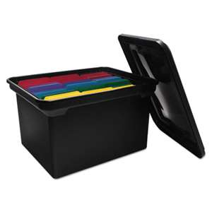 ADVANTUS CORPORATION File Tote Storage Box w/Lid, Legal/Letter, Plastic, Black