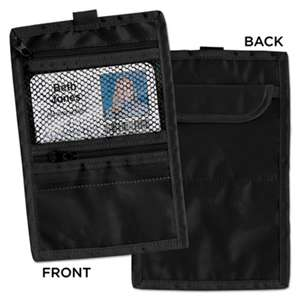 ADVANTUS CORPORATION Travel ID/Document Holder, Hold 4 1/4 x 2 1/4 Cards, Black Nylon, 5/Pack