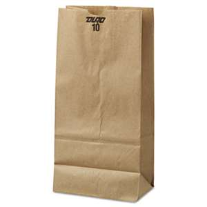 GENERAL SUPPLY #10 Paper Grocery Bag, 35lb Kraft, Standard 6 5/16 x 4 3/16 x 13 3/8, 500 bags