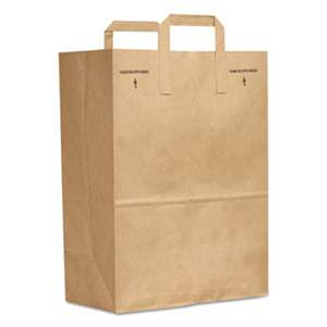 GENERAL SUPPLY 1/6 BBL Paper Grocery Bag, 70lb Kraft, Standard 12 x 7 x 17, 300 bags