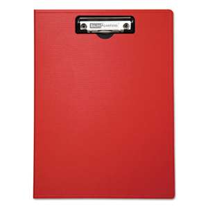 "BAUMGARTENS Portfolio Clipboard With Low-Profile Clip, 1/2"" Capacity, 8 1/2 x 11, Red"