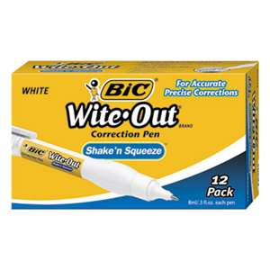 BIC CORP. Wite-Out Shake 'n Squeeze Correction Pen, 8 ml, White