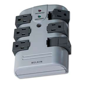 BELKIN COMPONENTS Pivot Plug Surge Protector, 6 Outlets, 1080 Joules, Gray
