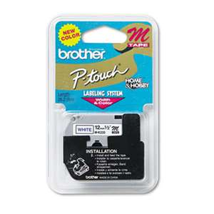 Brother P-Touch MK233 M Series Tape Cartridge for P-Touch Labelers, 1/2w, Blue on White