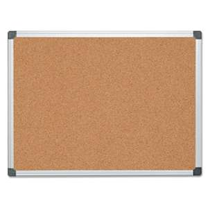 BI-SILQUE VISUAL COMMUNICATION PRODUCTS INC Value Cork Bulletin Board with Aluminum Frame, 36 x 48, Natural
