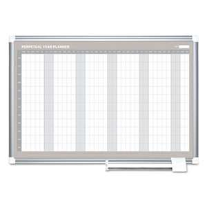 BI-SILQUE VISUAL COMMUNICATION PRODUCTS INC Perpetual Year Planner, 48x36, White/Silver,