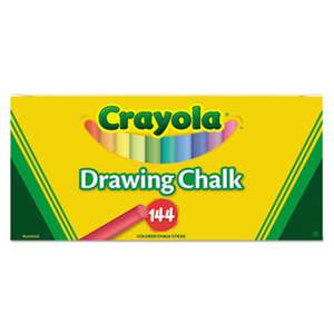 BINNEY & SMITH / CRAYOLA Colored Drawing Chalk, Six Each of 24 Assorted Colors, 144 Sticks/Set