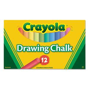 BINNEY & SMITH / CRAYOLA Colored Drawing Chalk, 12 Assorted Colors 12 Sticks/Set