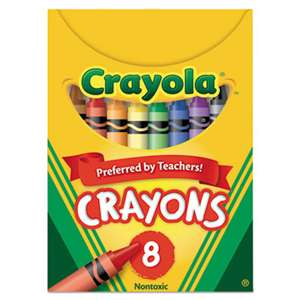 BINNEY & SMITH / CRAYOLA Classic Color Crayons, Tuck Box, 8 Colors