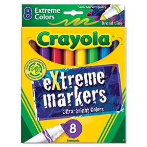 BINNEY & SMITH / CRAYOLA Extreme Color Marker, Assorted, 8/Pack
