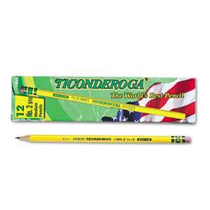 DIXON TICONDEROGA CO. Woodcase Pencil, F #2.5, Yellow, Dozen