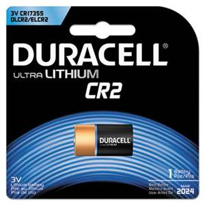 Duracell DLCR2BPK Ultra High Power Lithium Battery, CR2, 3V