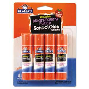 HUNT MFG. Washable School Glue Sticks, Disappearing Purple, 4/Pack