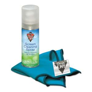 FALCON SAFETY Laptop Computer Cleaning Kit, 50mL Spray/Microfiber Cloth