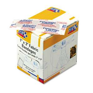 "FIRST AID ONLY, INC. Fabric Bandages, 1"" x 3"", 100/Box"