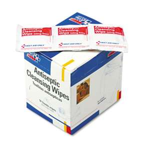 FIRST AID ONLY, INC. Antiseptic Cleansing Wipes, 50/Box
