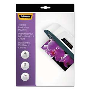 FELLOWES MFG. CO. ImageLast Laminating Pouches with UV Protection, 3mil, 11 1/2 x 9, 25/Pack