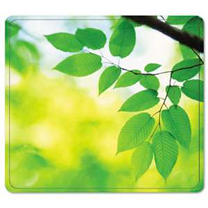 FELLOWES MFG. CO. Recycled Mouse Pad, Nonskid Base, 7 1/2 x 9, Leaves