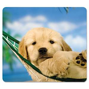 FELLOWES MFG. CO. Recycled Mouse Pad, Nonskid Base, 7 1/2 x 9, Puppy in Hammock