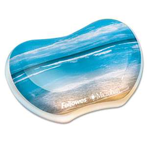 FELLOWES MFG. CO. Gel Wrist Rest, Photo, 4 7/8 x 3 7/16, Sandy Beach