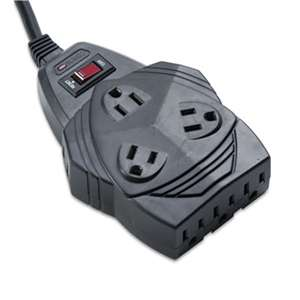 FELLOWES MFG. CO. Mighty 8 Surge Protector, 8 Outlets, 6 ft Cord, 1460 Joules, Black