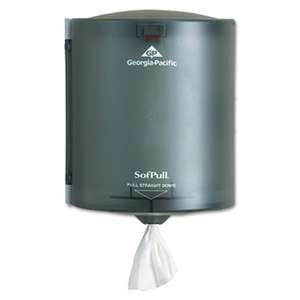 GEORGIA PACIFIC Center Pull Hand Towel Dispenser, 9 1/4w x 8 3/4d x 11 1/2h, Smoke