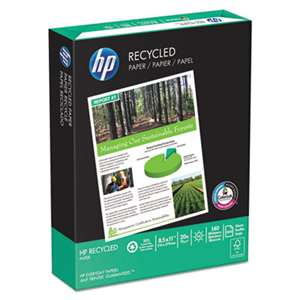 HEWLETT PACKARD COMPANY Office Recycled Paper, 92 Brightness, 20lb, 8-1/2 x 11, White, 5000 Shts/Ctn