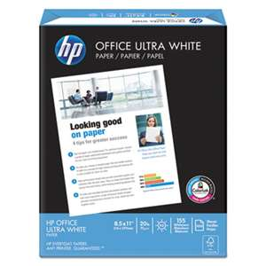 HEWLETT PACKARD COMPANY Office Ultra-White Paper, 92 Bright, 20lb, 8-1/2 x 11, 500/Ream, 10/Carton