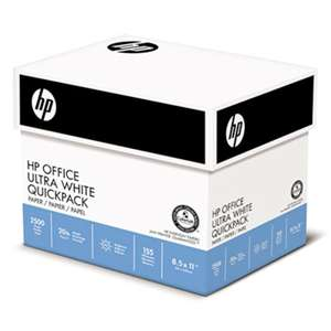 HEWLETT PACKARD COMPANY Office Ultra-White Paper, 92 Bright, 20lb, 8-1/2 x 11, 500/Ream, 5/Carton