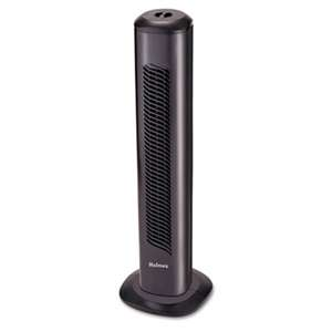 "HOLMES PRODUCTS Oscillating Tower Fan, Three-Speed, Black, 5 9/10""W x 31""H"