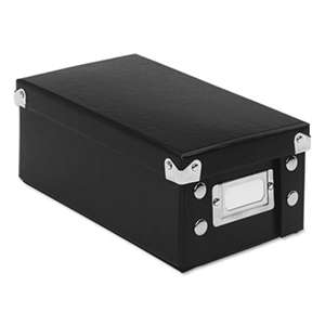 IDEASTREAM CONSUMER PRODUCTS Collapsible Index Card File Box, Holds 1,100 3 x 5 Cards, Black