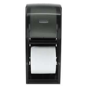 KIMBERLY CLARK Coreless Double Roll Bath Tissue Dispenser, 6 6/10 x 6 x13 6/10, Plastic, Smoke