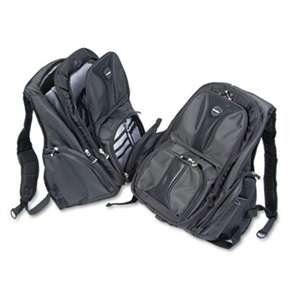 ACCO BRANDS, INC. Contour Laptop Backpack, Nylon, 15 3/4 x 9 x 19 1/2, Black
