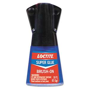 LOCTITE CORP. ACG Super Glue Brush On, 0.17 oz, Clear