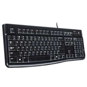 LOGITECH, INC. K120 Ergonomic Desktop Wired Keyboard, USB, Black