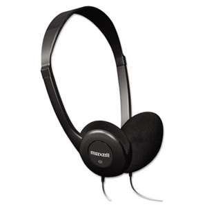 MAXELL CORP. OF AMERICA HP-100 Headphones, Black