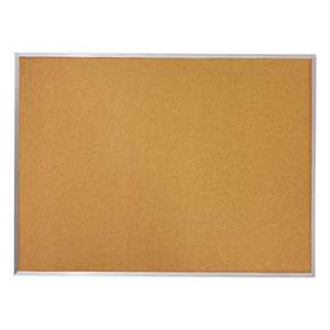 MEAD PRODUCTS Cork Bulletin Board, 36 x 24, Silver Aluminum Frame
