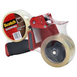 "3M/COMMERCIAL TAPE DIV. Packaging Tape Dispenser with 2 Rolls of Tape, 1.88"" x 54.6yds"