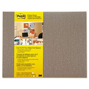 3M/COMMERCIAL TAPE DIV. Cut-to-Fit Display Board, 18 x 23, Mocha, Frameless