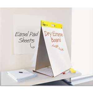 3M/COMMERCIAL TAPE DIV. Dry Erase Tabletop Easel Unruled Pad, 20 x 23, White, 20 Sheets