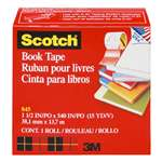 "3M/COMMERCIAL TAPE DIV. Book Repair Tape, 1 1/2"" x 15yds, 3"" Core, Clear"