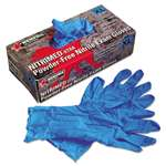MCR SAFETY Nitri-Med Disposable Nitrile Gloves, Blue, X-Large, 100/Box