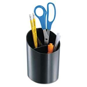 OFFICEMATE INTERNATIONAL CORP. Recycled Big Pencil Cup, 4 1/4 x 4 1/2 x 5 3/4, Black