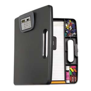 OFFICEMATE INTERNATIONAL CORP. Portable Storage Clipboard Case w/Calculator, 12w x 13 1/10h, Charcoal