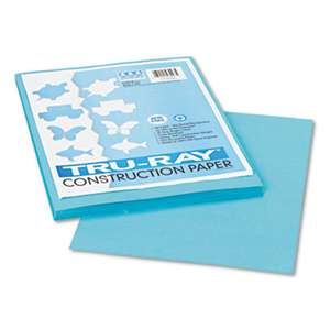 PACON CORPORATION Tru-Ray Construction Paper, 76 lbs., 9 x 12, Turquoise, 50 Sheets/Pack